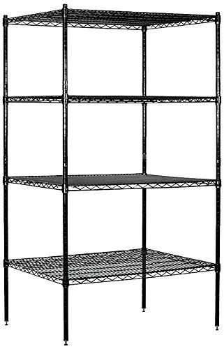 Salsbury Industries Stationary Wire Shelving Unit 36inch Wide By 74inch High By 24inch Deep Black Shelving Unit Wire Shelving Salsbury Industries
