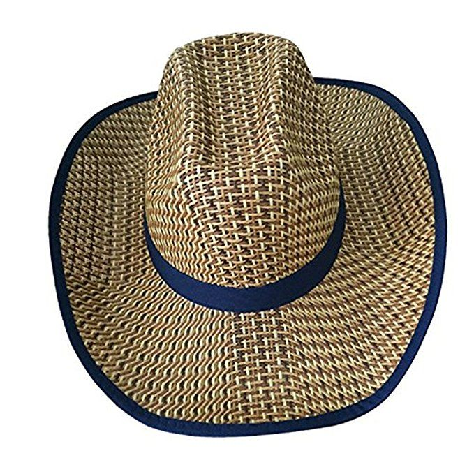 6b9778c798f98 YUUVE Unisex Cowboy Hat Straw Hat Wide Brim Sun Hat Women Men s Fisher Hat  For Outdoor  Clothing