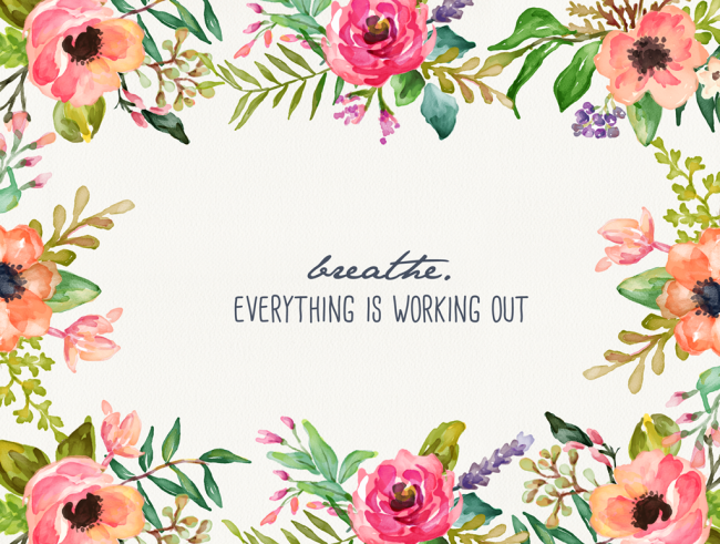 Breathe Floral Desktop Wallpaper Macbook Wallpaper Bright Quotes Laptop Wallpaper Desktop Wallpapers