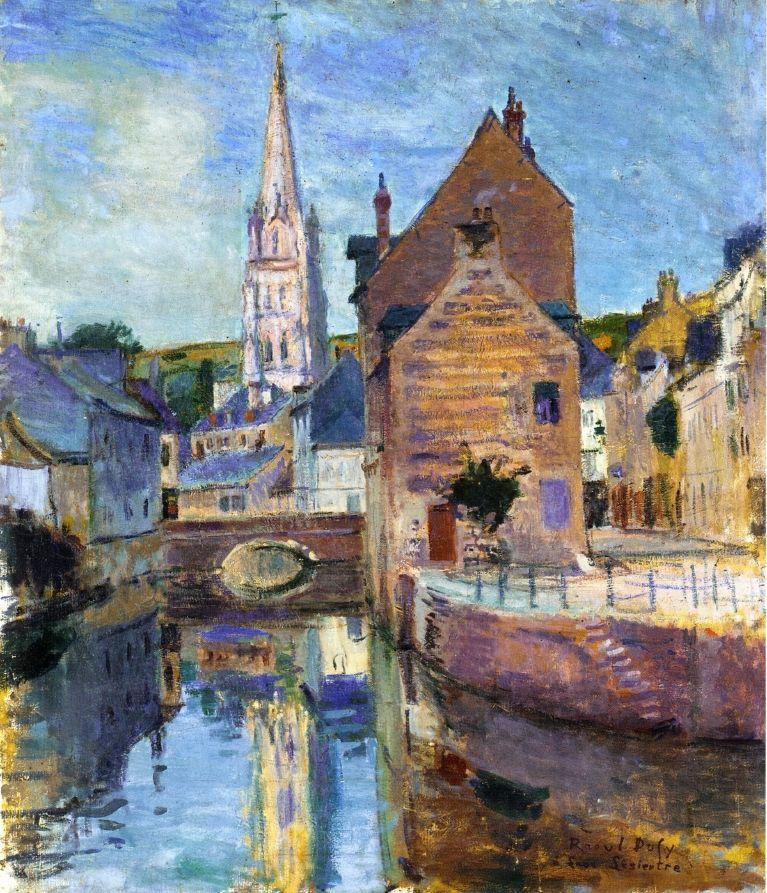 Harfleur - Raoul Dufy - WikiPaintings.org勞爾杜飛(1887-1953)法國後印象派畫家,後受馬蒂斯和塞影響而改變畫風。並以野獸派聞名。