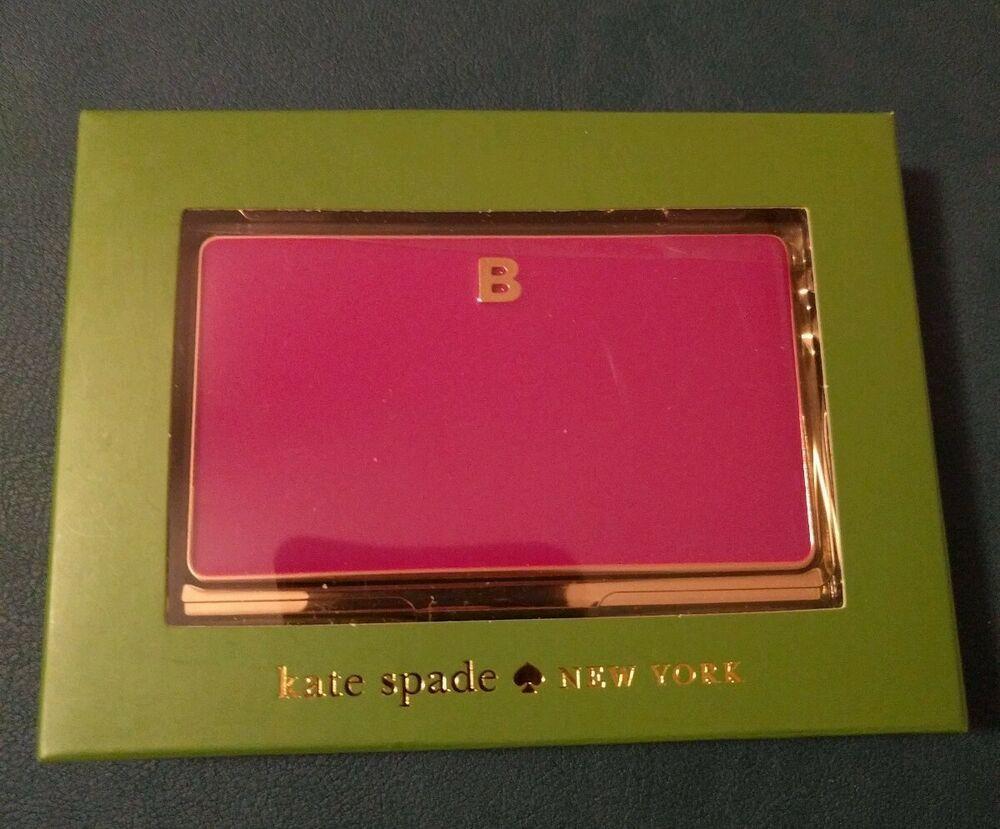 Kate Spade New York One In A Million Business Card Holder Letter B Katespadenewyork