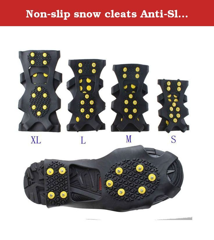 Nonslip snow cleats AntiSlip overshoes Studded Ice Traction shoe covers  Spike Whats