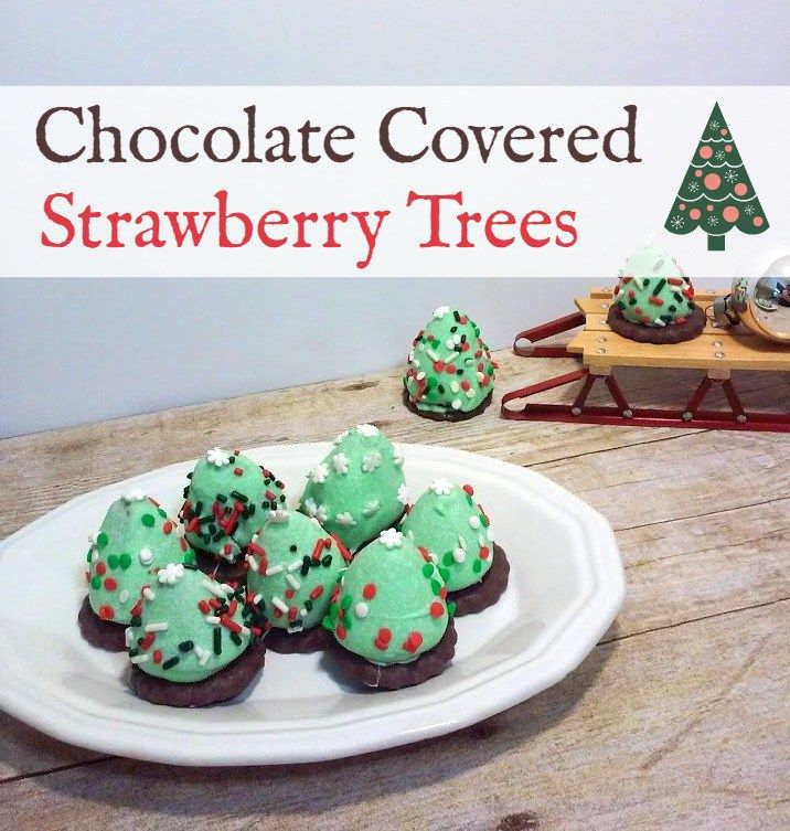 Chocolate Covered Strawberry Trees