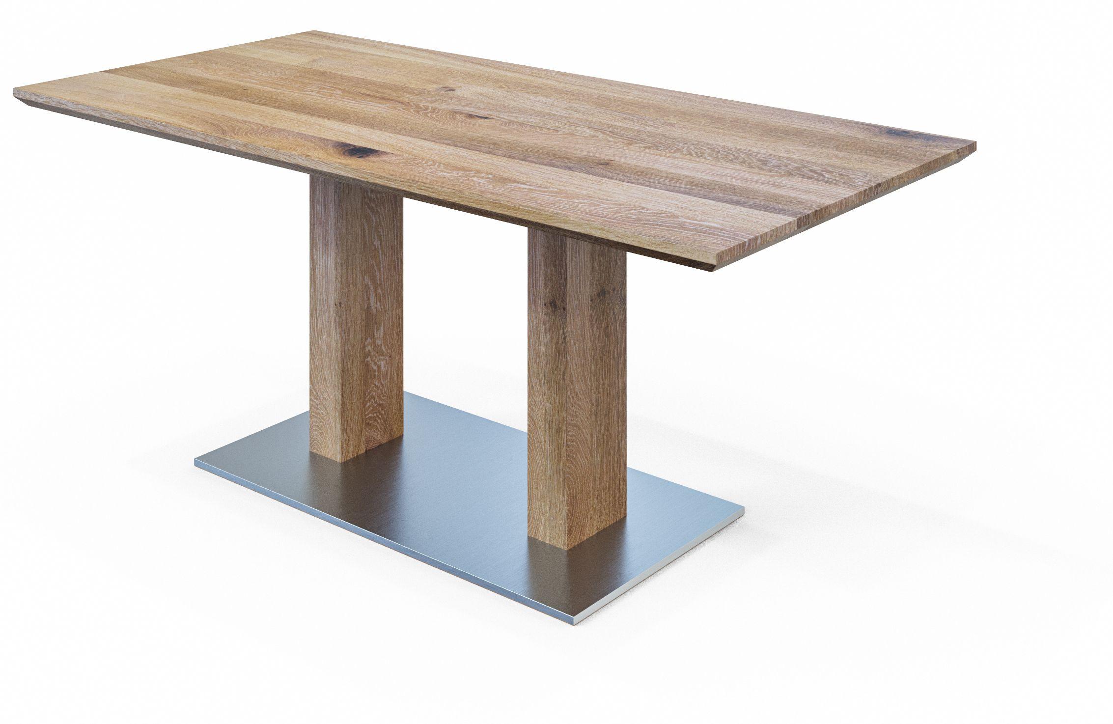 Großartig Säulentisch Massivholz Ideen Von #esstisch Ikaros Aus - In Wildeiche Aus