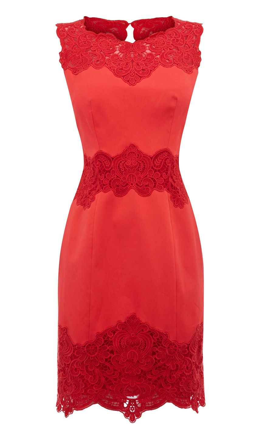 mix of lace | Red party dress | Pinterest | Durchsichtig, Sommer ...