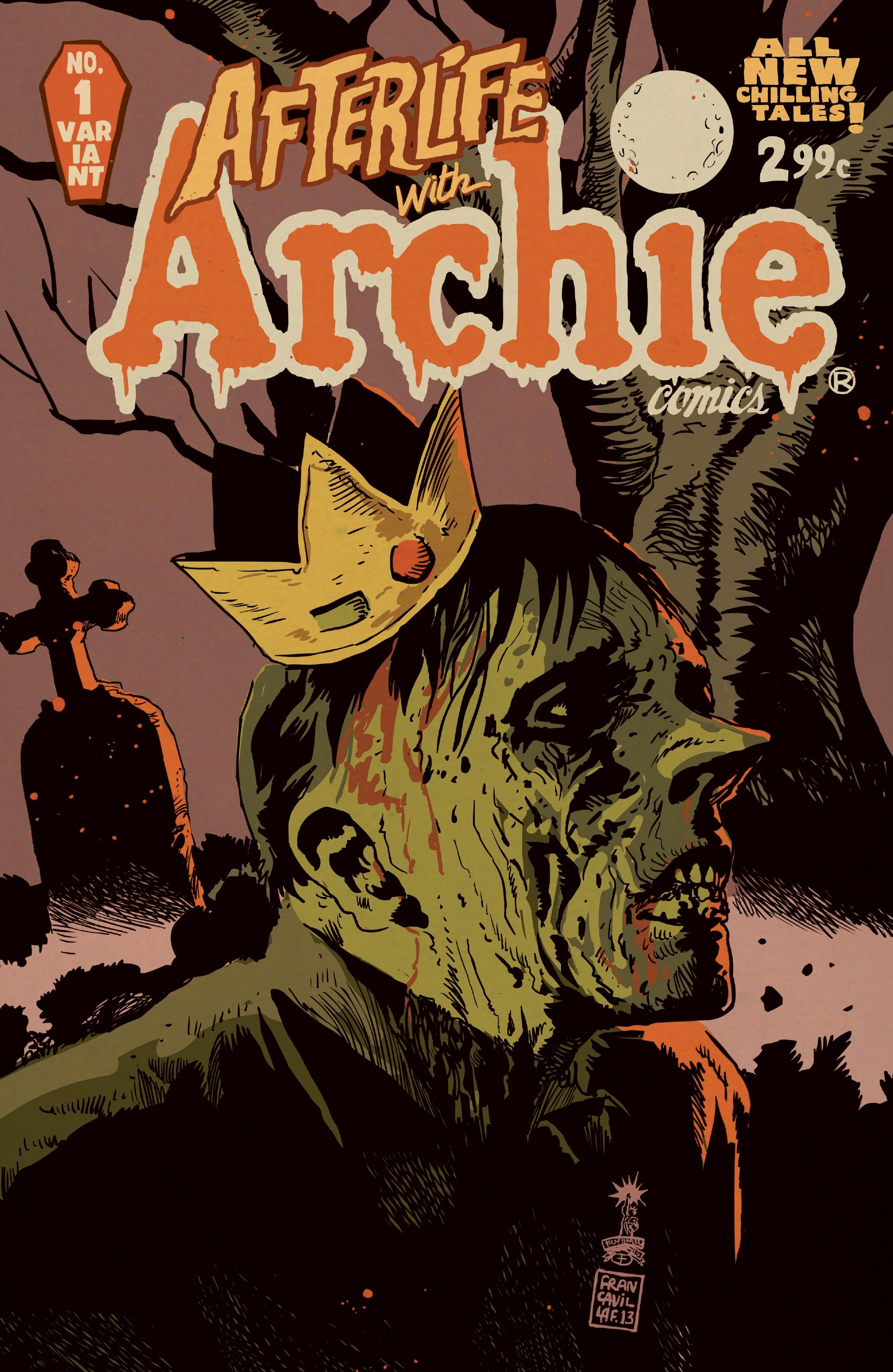Francesco Francavilla Cover Reveal 'Afterlife With Archie' #1!