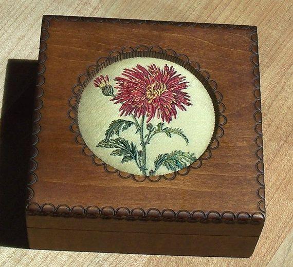 Vintage J & J Cash Ltd. Wood Trinket Box