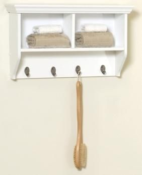 Collette Wall Shelf With Hooks Mudroom Pinterest Bathroom - White bathroom shelf with hooks for bathroom decor ideas