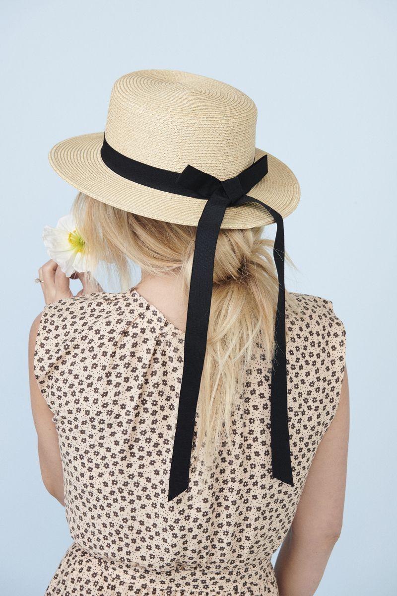 259b3442a231e Women s LC Lauren Conrad Grosgrain Packable Boater Hat in 2019 ...