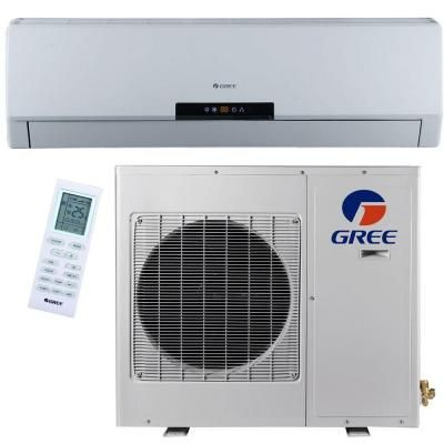 Gree Premium Efficiency 12 000 Btu 1 Ton Ductless Mini Split Air Conditioner With Inverter Heat Remote 115v Neo12hp115v1a The Home Depot Air Conditioner Inverter Ductless Mini Split Heat Pump System