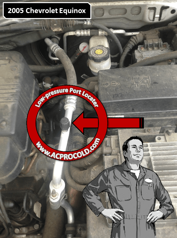 2005 Chevrolet Equinox - Low Side Port for A/C Recharge