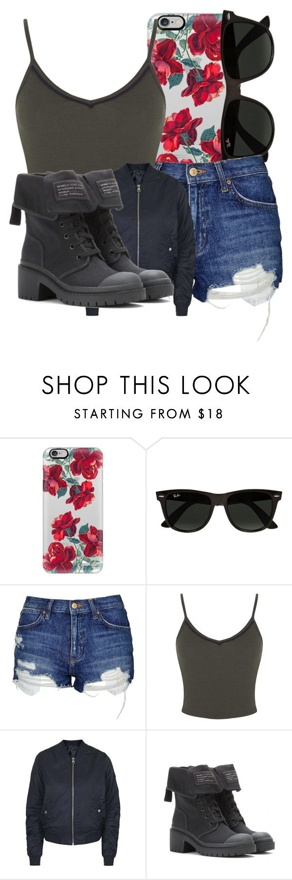 """Untitled #3500"" by dianna-argons-lover ❤ liked on Polyvore featuring Casetify, Ray-Ban, Topshop, Miss Selfridge and Marc by Marc Jacobs"