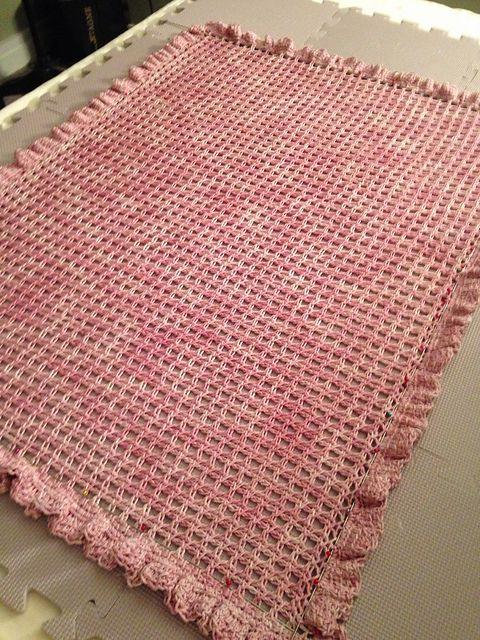 In Ravelry - Volento Baby Blanket Tunisian crochet http://www.ravelry.com/patterns/library/volento-baby-blanket