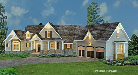 Architecturally Beautiful Ranch Home Plan   Family Home Plans 98267