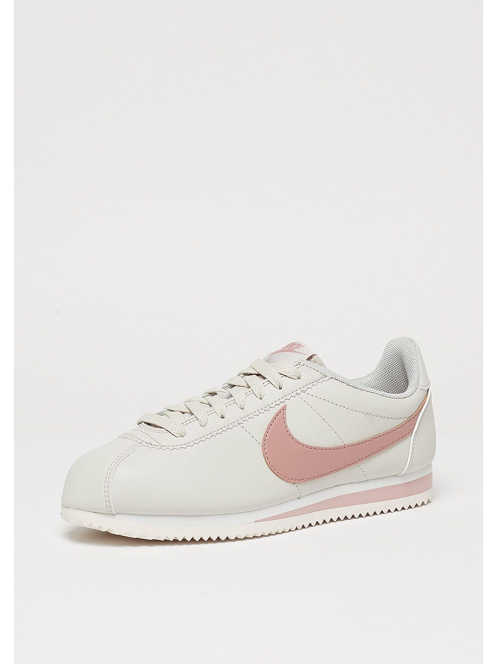 823340422 NIKE Wmns Classic Cortez Leather light bone particle pink summit white