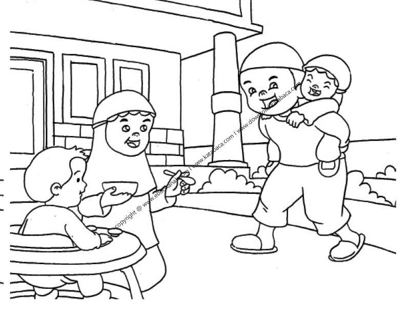 Gambar Ibu Sedang Menyuapi Anaknya Makan Bubur 19 Ebook Anak