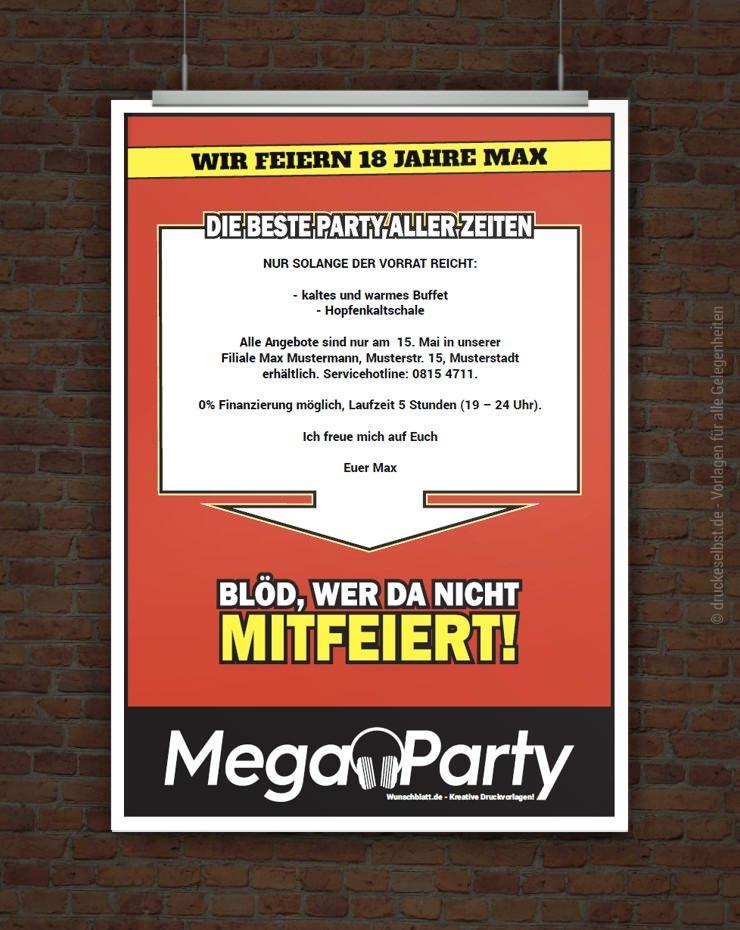 Drucke Selbst Partyflyer Kostenlos Gestalten Polterabend Einladung Einladungen Einladung Jugendweihe