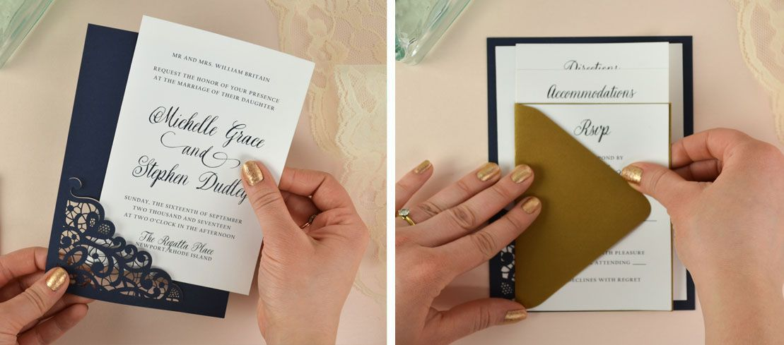 How to diy laser wedding invitations with slide in cards wedding laser slide in cards diy wedding invitations multiple stopboris Choice Image