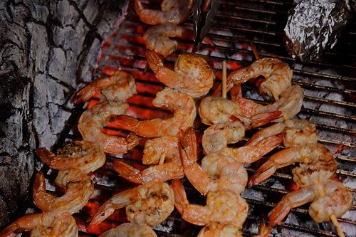 Spicy Grilled Shrimp Skewers - Easy Camping Recipe - Dirty Gourmet