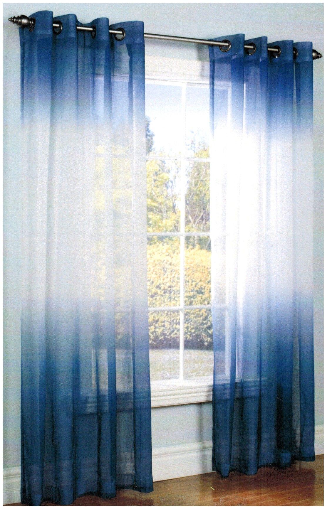 Navy Blue Sheer Curtain Panels Di 2020 Dengan Gambar Hidup