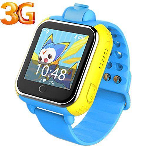 Smart Watch 3g Wifi Gps Tracker Kids Watch Sos Mobile Phone App For Ios Android Smartwatch Pedometer Wristband Amenon G75 Blue Smart Watch Gps Gps Tracker