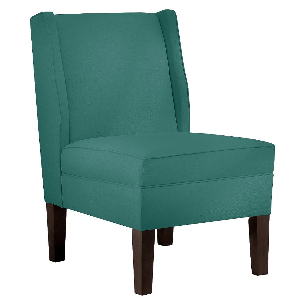 Skyline Custom Upholstered Wingback Chair, Linen Laguna | Wingback ...