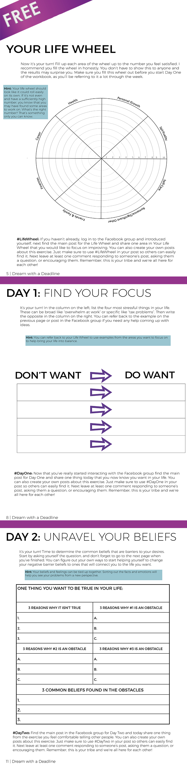 FREE Personal Development Goal Setting Workbook 26 pages