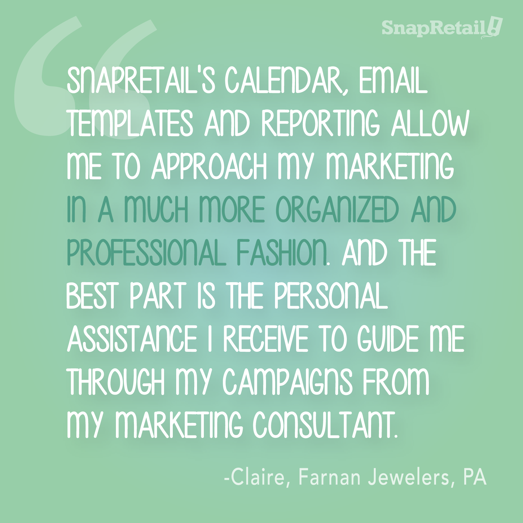"""SnapRetail's Calendar, Email Templates And Reporting"