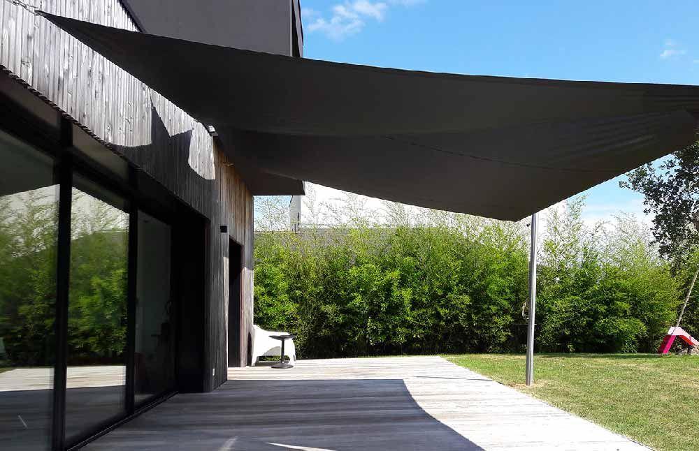 Les Toiles D Ombrage Pour Votre Terrasse Par Tendance Marine Voile Ombrage Toile Ombrage Pergola Design