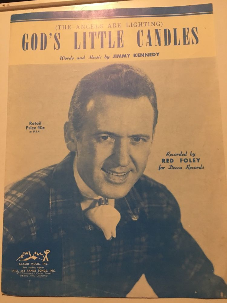 Gods Little Candles Jimmy Kennedy Vintage Sheet Music Red