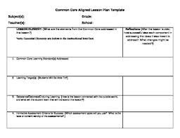Common Core Observation Lesson Plan Template Pdf  Google Search