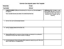 Common Core Observation Lesson Plan Template Pdf  Google Search