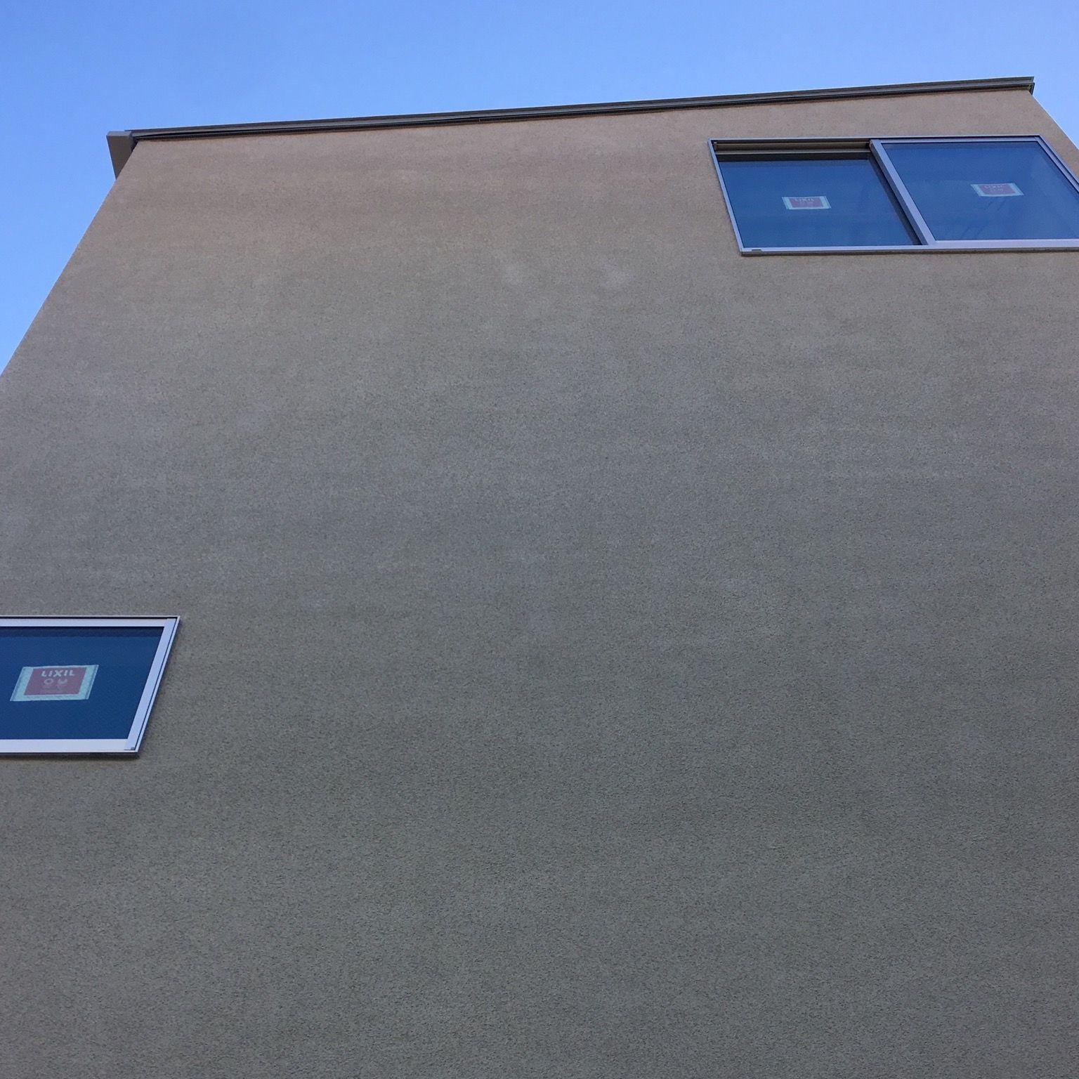 ジョリパット 塗り壁 シンプル グレー 建築 外壁 塗り壁 近代