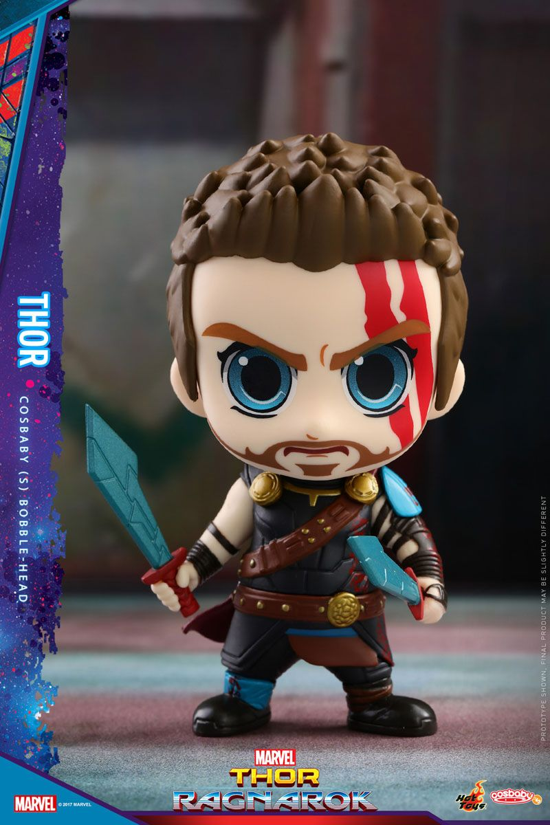 The Thor Ragnarok Cosbaby Bobblehead Series! Heróis de