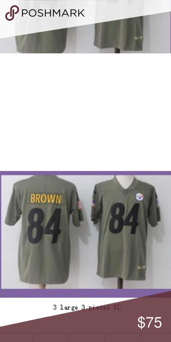 big sale 6c050 a8e9f Antonio brown Pittsburgh Steelers wideout salute to service ...