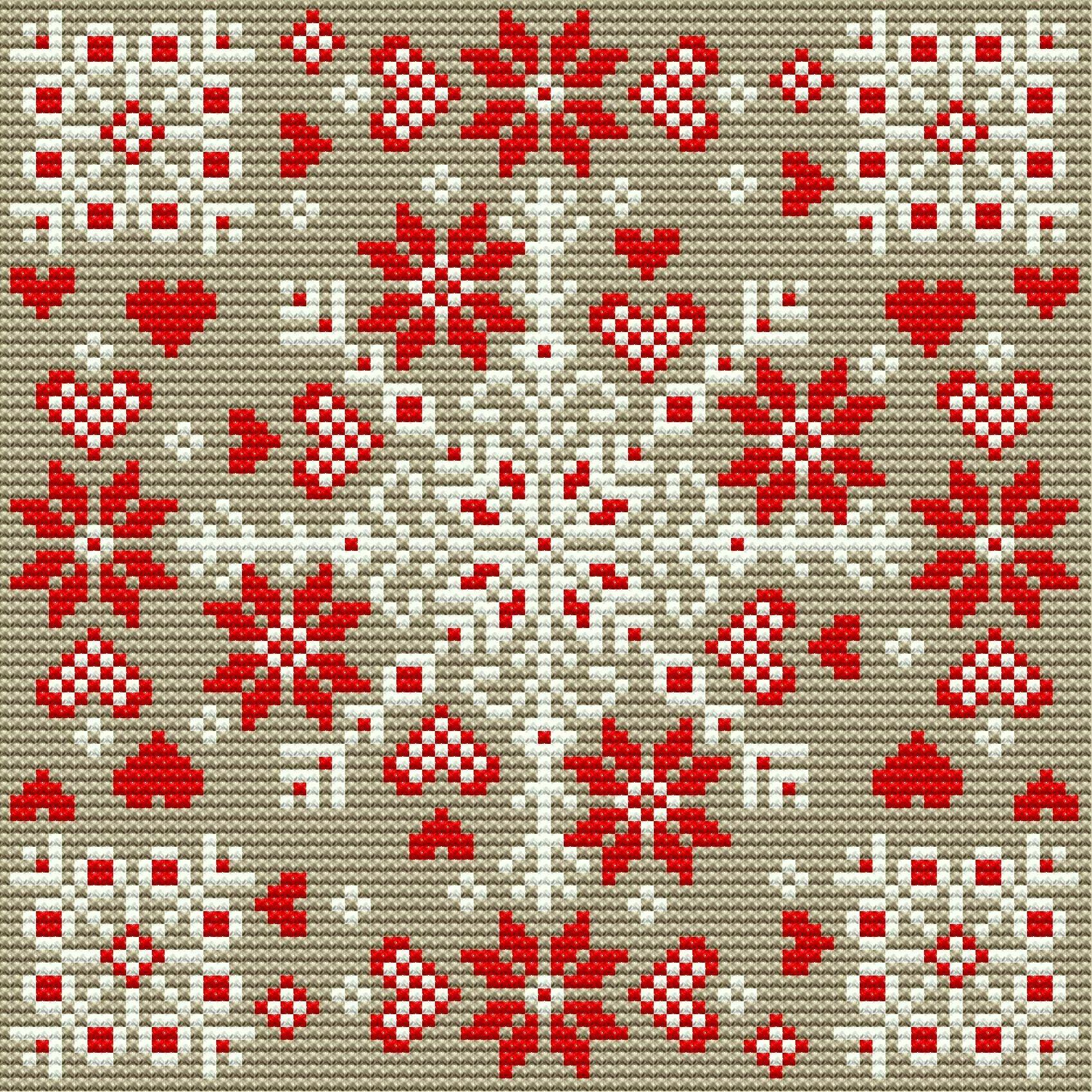Nordic Tapestry Cushion Christmas Festive Scandinavian Cross Stitch Pattern Insta Cross Stitch Cushion Cross Stitch Patterns Scandinavian Cross Stitch Patterns