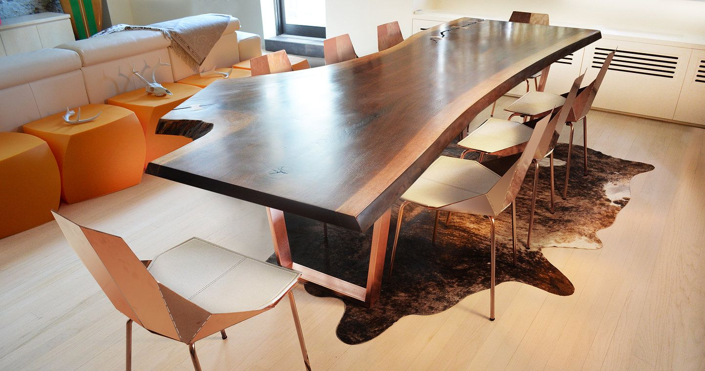 Custom Made Live Edge Tables Reclaimed Wood Furniture And Desks From Fallen Trees In Brooklyn New York By Designer Artist Paul Kruger