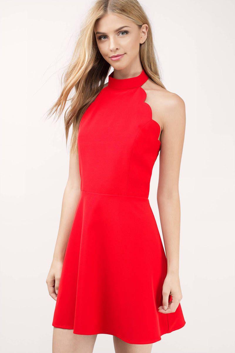 2021 Kirmizi Abiye Elbise Modelleri Cekiciligin Adresikirmizi Elbise Halter Yaka Sade Sirt Dekolteli Kisa Elbise Kisa Elbiseler The Dress Elbise