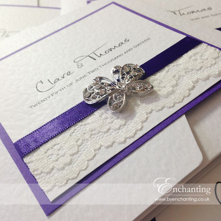 The Snow White Collection - Pocketfold Invitation | Featuring ivory ...