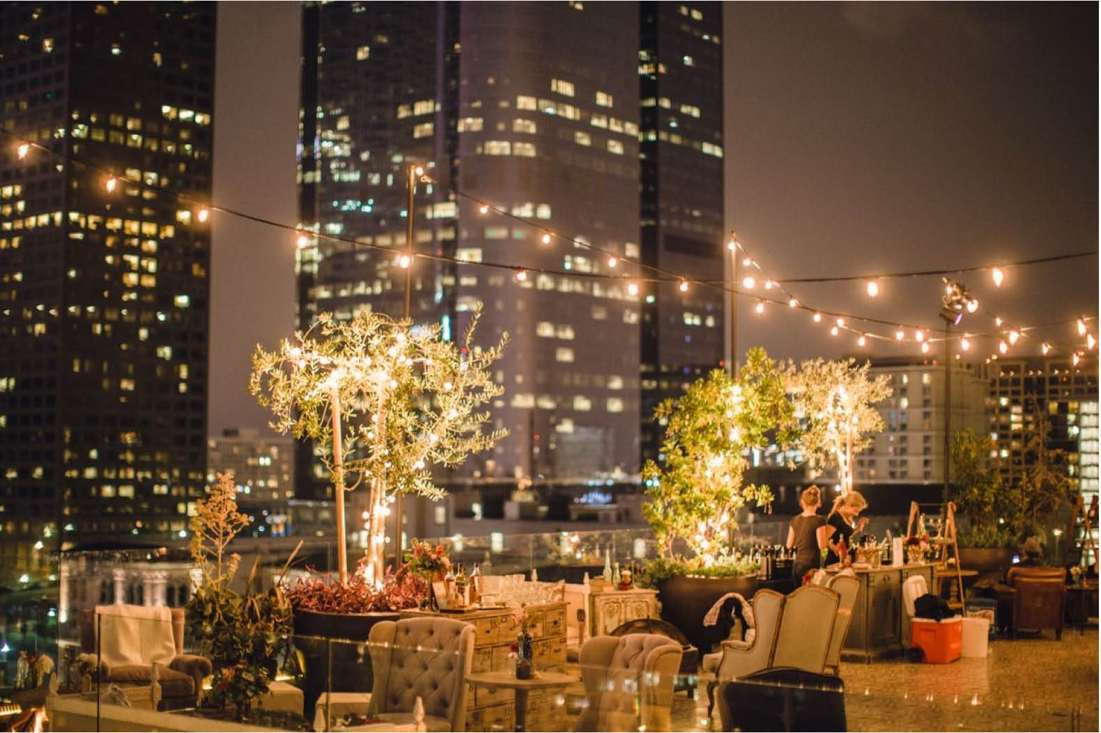 Perch High In The Sky For A Rooftop Revelry Rooftop Wedding Georgia Wedding Venues Wedding Venue Los Angeles