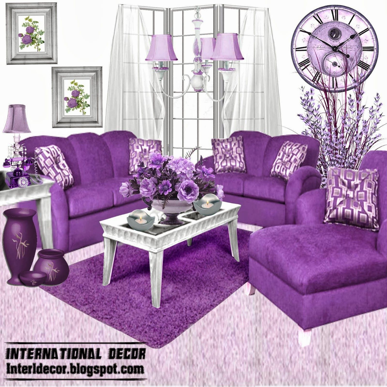 Purple Sofa Set Innovative Purple Furniture For Living