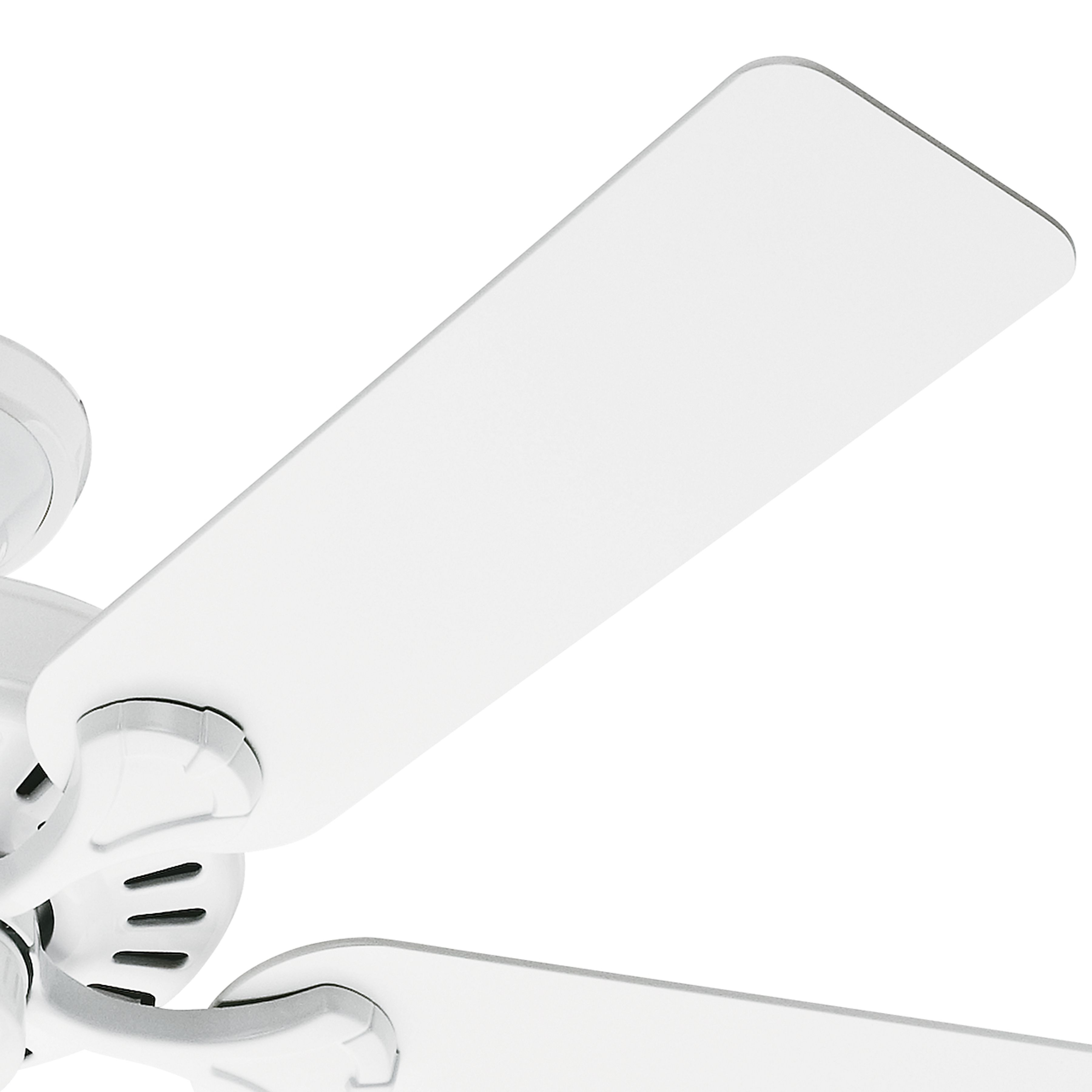 Hunter Inch White Finish Ceiling Fan Speed Whisperwind