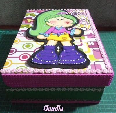 Resultado de imagen de manualidades con cajas de zapatos - Cajas de zapatos decoradas ...