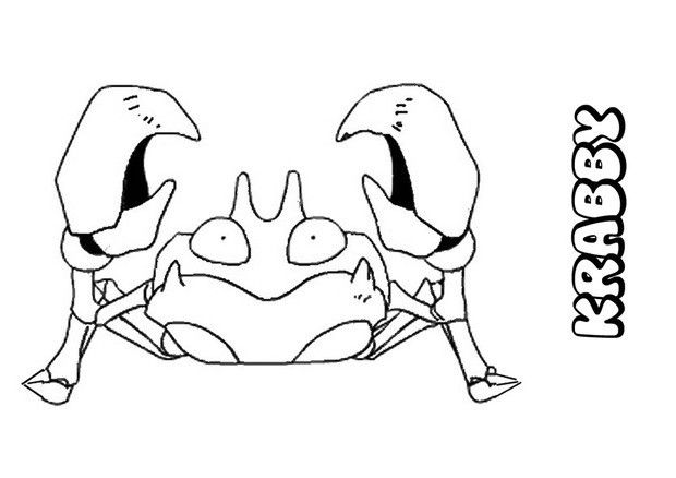 Do You Like Water Pokemon Coloring Pages You Can Print Out This Krabby Pokemon Coloring Pagev Or Colo Pokemon Coloring Pages Pokemon Coloring Pokemon Drawings