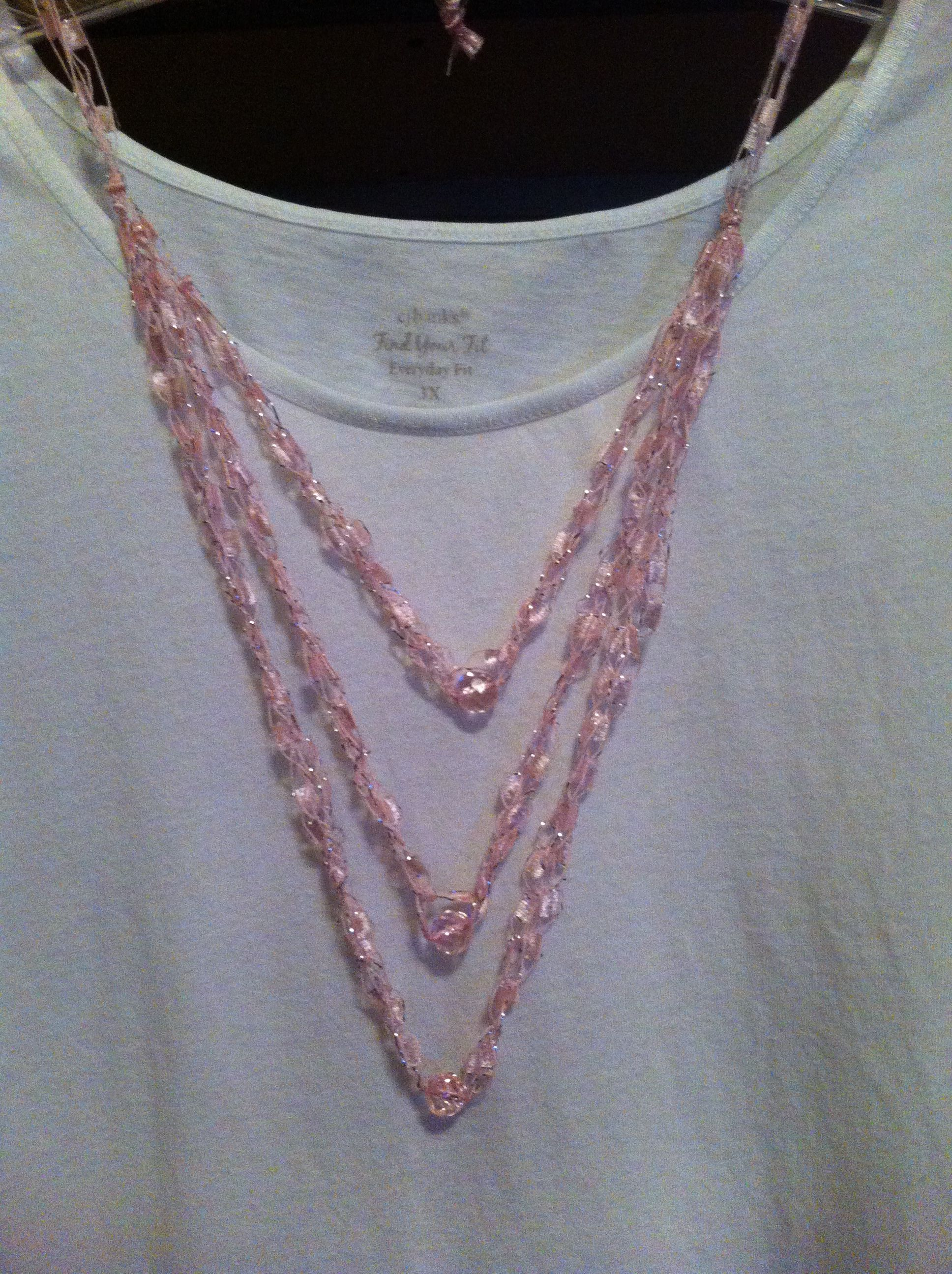 Ladder Yarn Necklace With Beads Ladder Yarn Projects Pinterest