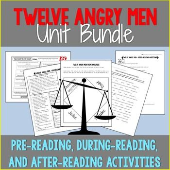 Twelve Angry Men Unit Bundle Critical Thinking Activities