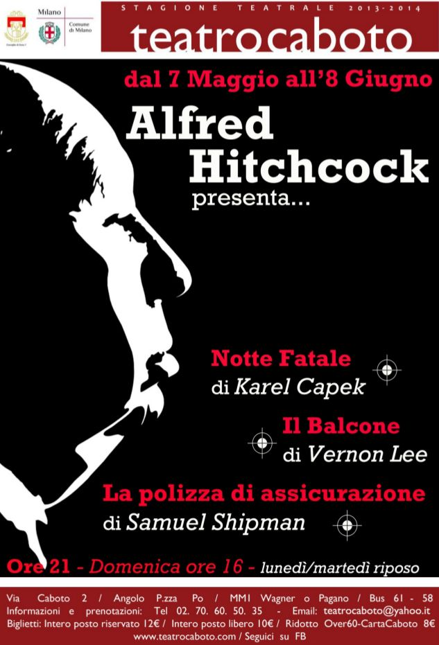 Alfred Hitchcock presenta... Milano teatro Caboto