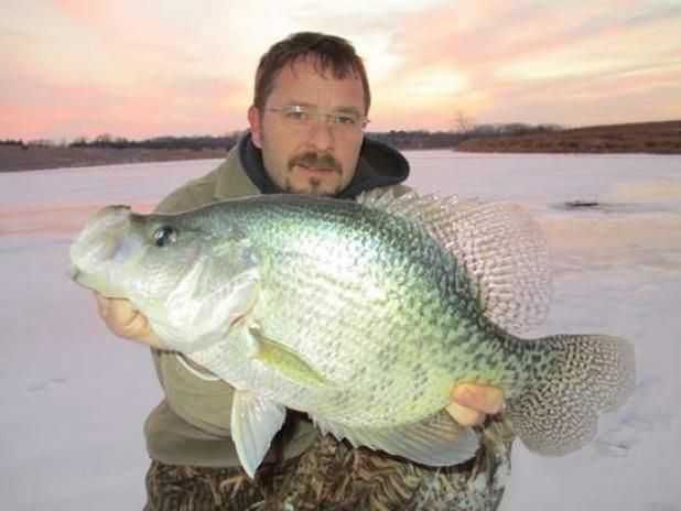 Ice fisherman releases potential record crappie field for Ice fishing for bass
