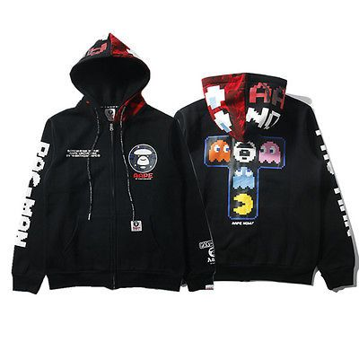 553ac8fd85b3 Mens Bape AAPE Japan Style Shark Monkey Head Hoodie Sweater Casual Coat  Jacket