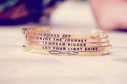 Love these!!! Inspirational Bracelets, Inspirational Jewelry | MantraBand® Bracelets